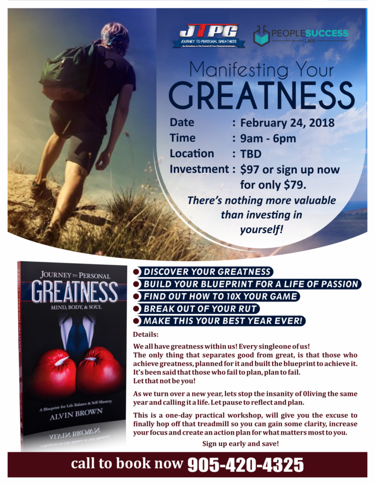 Our Latest Greatness Event: